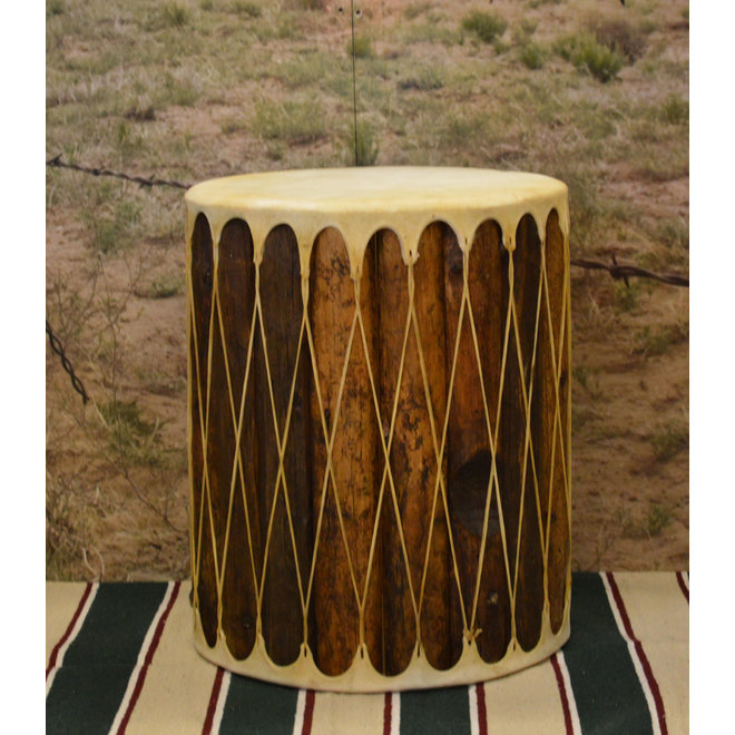 Rawhide Side Table Drums