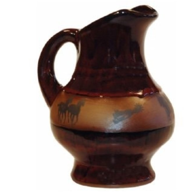 Real Red Squat Pitcher with New Western Design