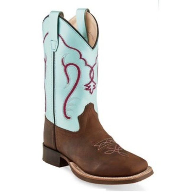 Turquoise/Brown Leather Boot