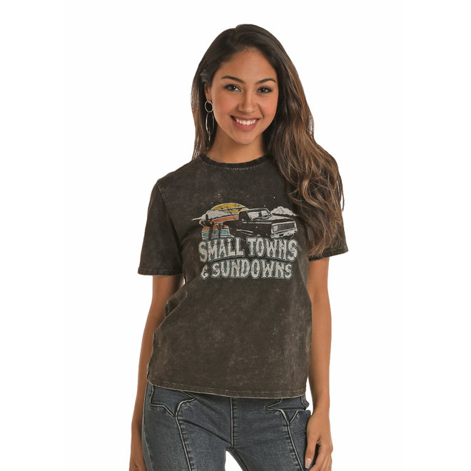 Ladies Small Town Sundowns shirt