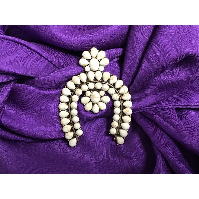 Squash Blossom Brooch Pin