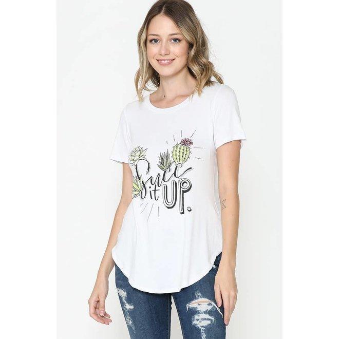 Suck It Up Round Hem T-Shirt