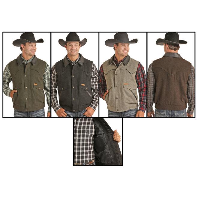 Powder River Wool & Leather Vest