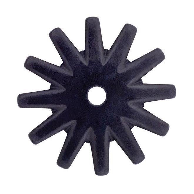 Black Satin 12 Point Rowel