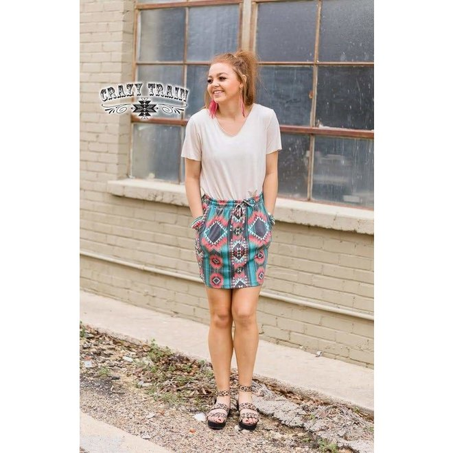The T-Shirt Skirt Aztec