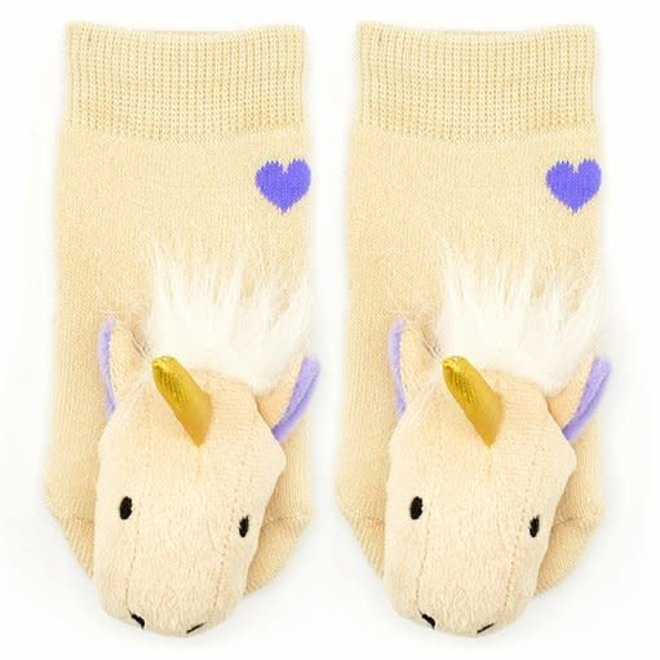 Golden Unicorn Rattle Sock 0-1Y