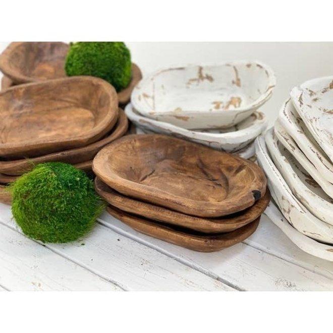 Rustic Wood Bowl- Natural