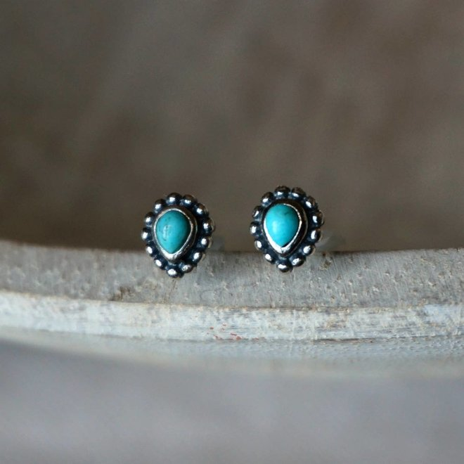 Maya Turquoise Stud Earrings