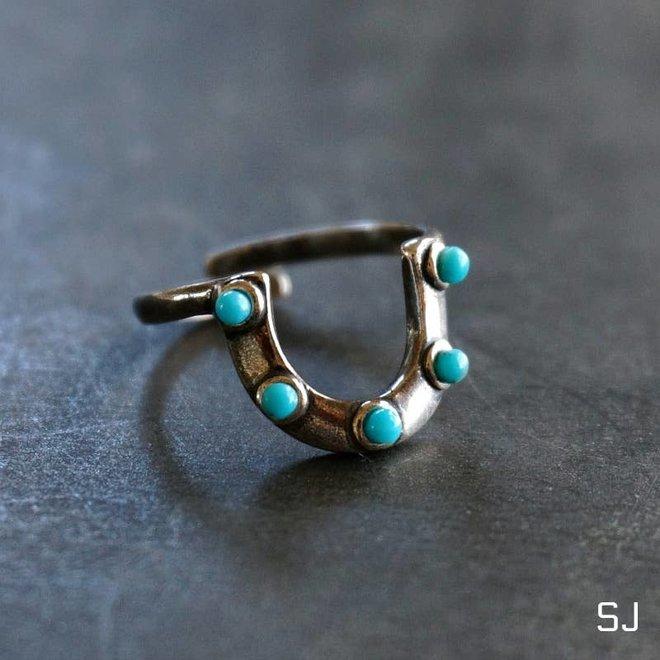 Horseshoe Turquoise Ring