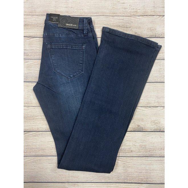 Dark Wash  Trouser Mid-rise Jean