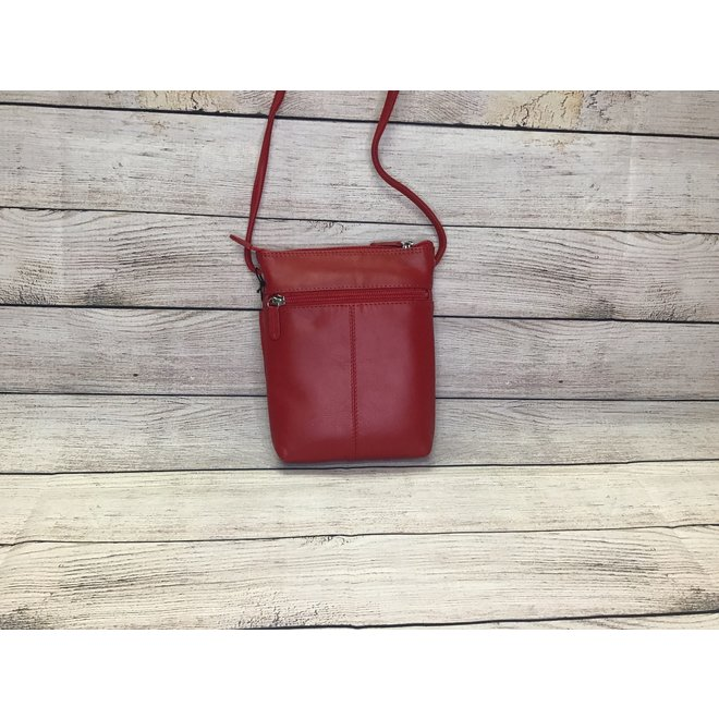 Leather Mini Sac Red