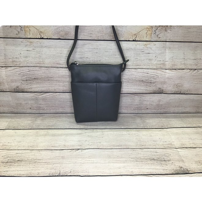 Leather Mini Sac Grey