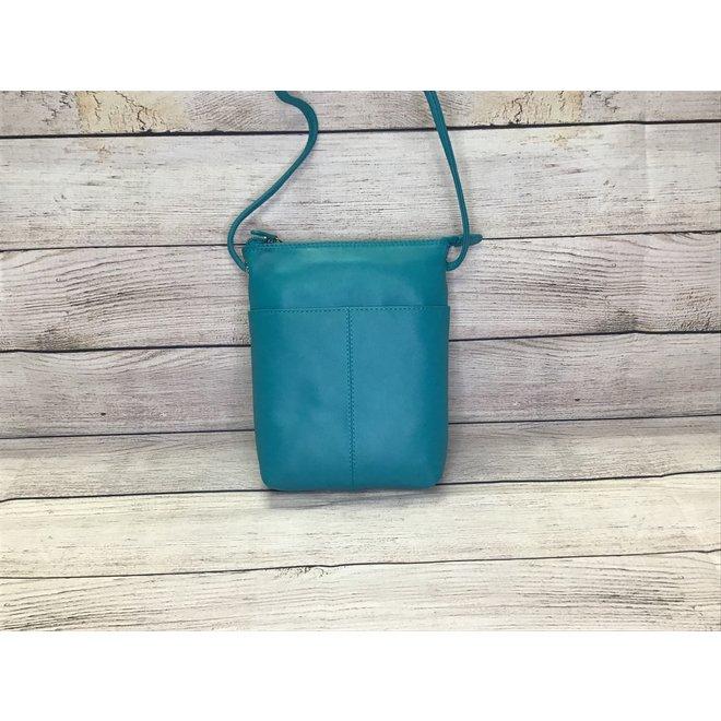 Leather Mini Sac Aqua