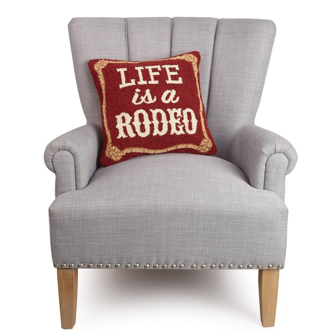 Life Is A Rodeo Hook Pillow