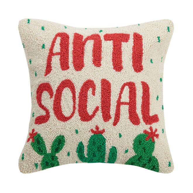 Anti Social Hook Pillow