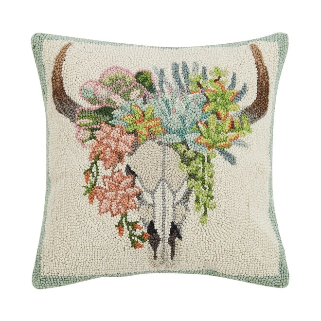 Succulent Skull Hook Pillow