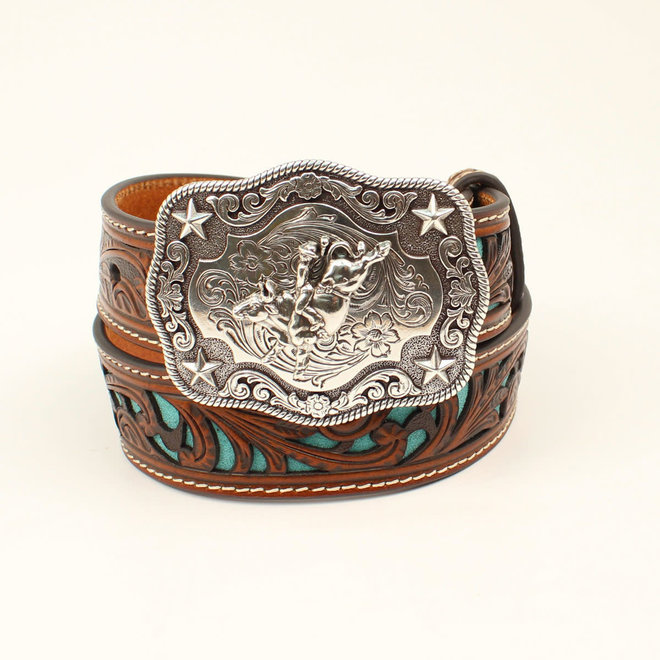 Kids Scrolled Turquoise Belt