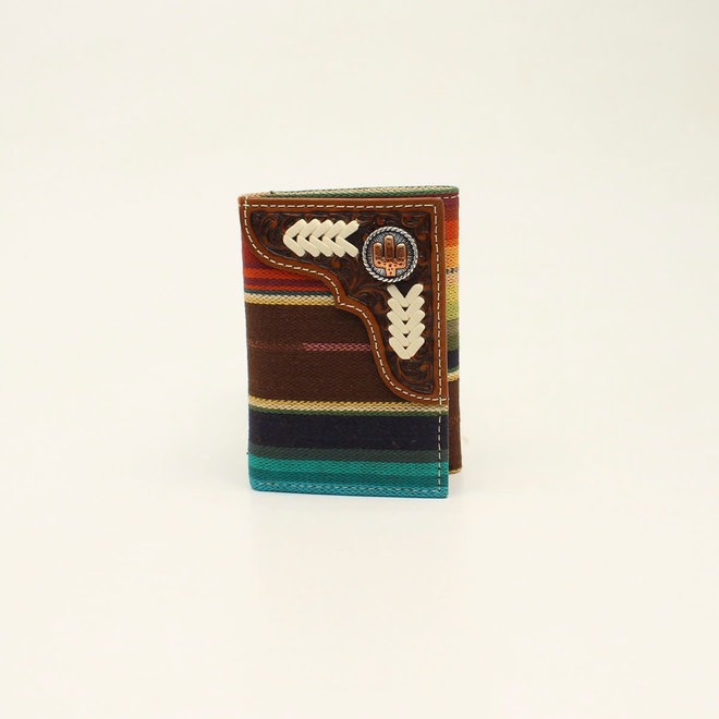 Trifold Rodeo Serape Cactus Concho Wallet