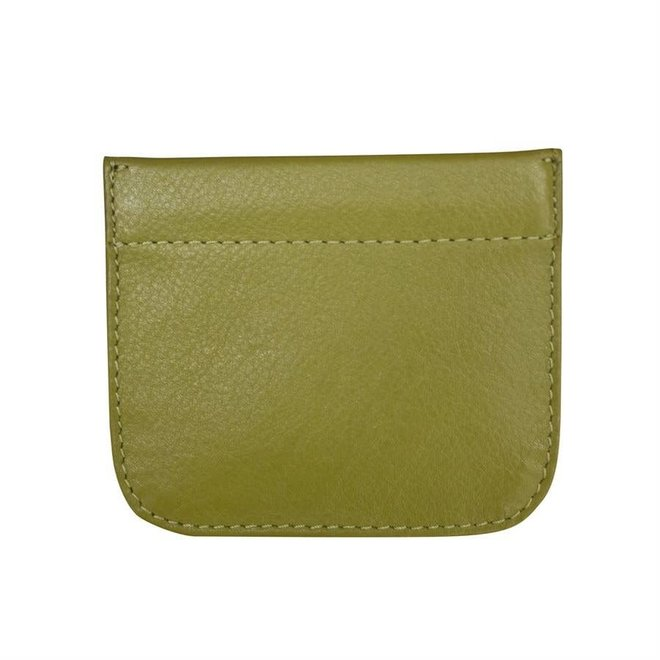 Leather Squeeze Coin Holder GRN