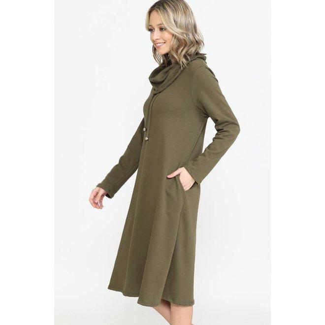 Turtleneck Dress  with Hidden Pockets