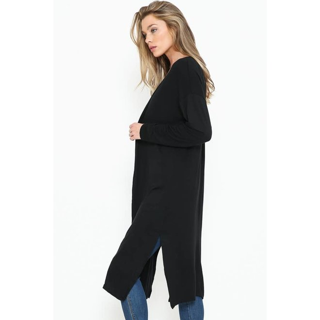 Solid Duster With Open Front