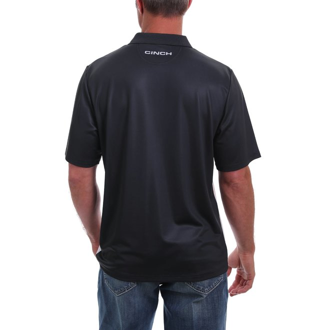Arena Flex Polo Shirt- Black and White Block With Stripe