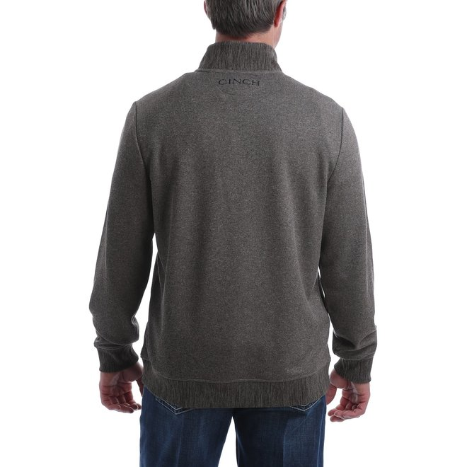 MEN'S SWEATER KNIT PULLOVER -BROWN