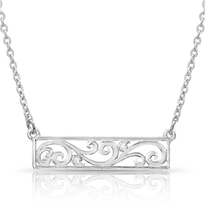 Bar None Scroll Necklace
