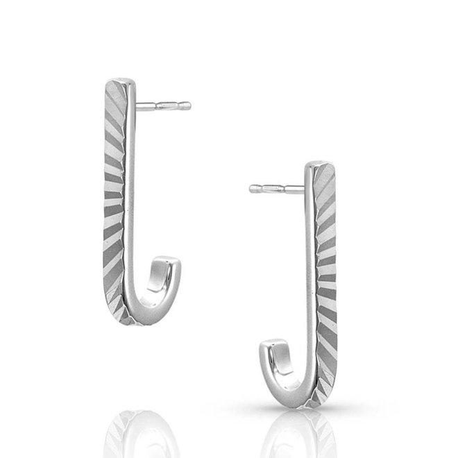 Flared Hook Bar Earrings