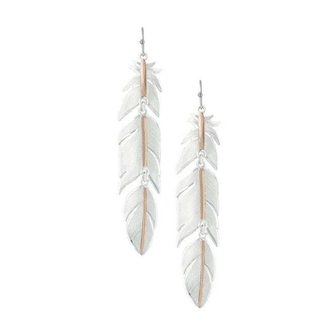 Sunlit Plume Feather Earrings