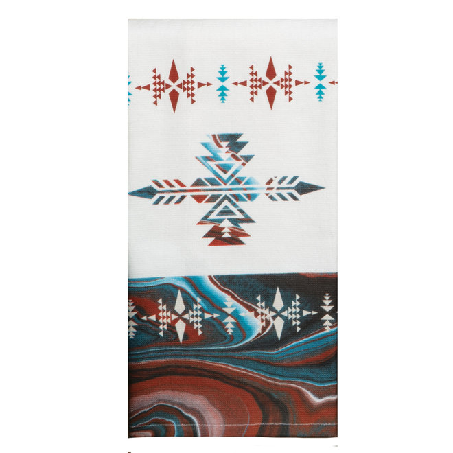 Southwest Vistas SW Pattern Dual Purpose Terry Towel