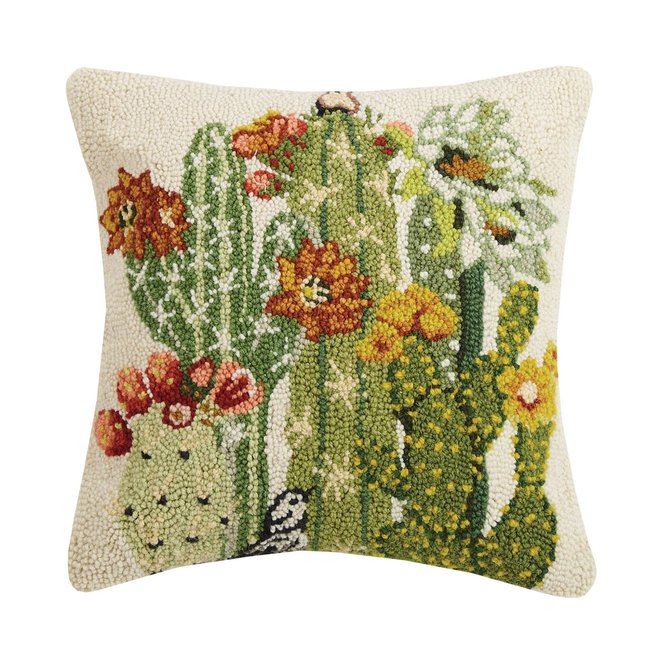 Floral Cactus Hook Pillow