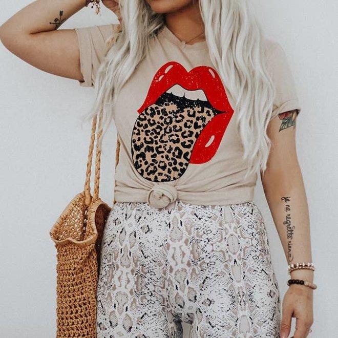 Leopard Rocker Tee Shirt