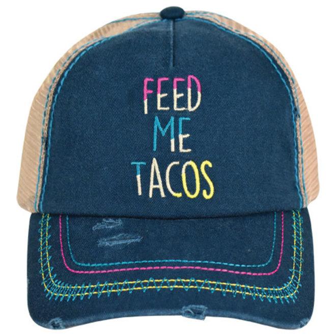 CATCHFLY BASEBALL CAP FEED ME TACOS