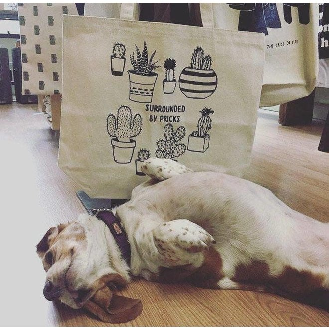 Surrounded by Pricks Farmers Market Tote Bag