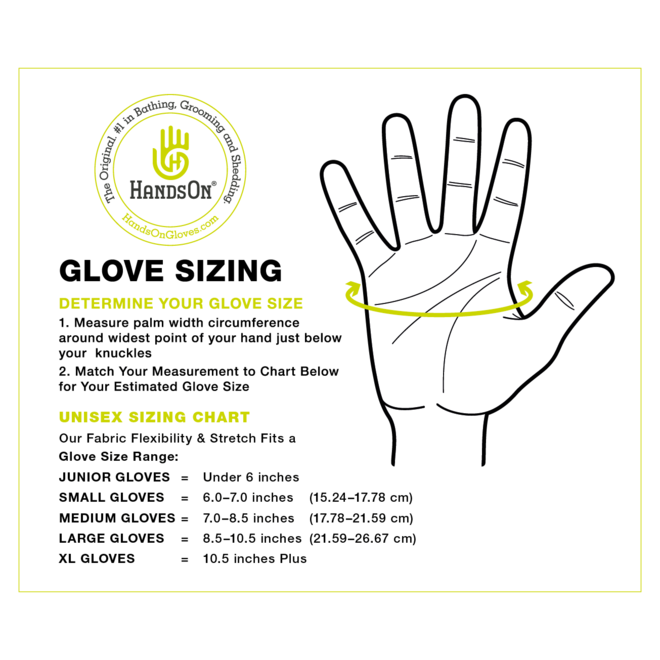 Hands On Grooming  and Bathing Gloves