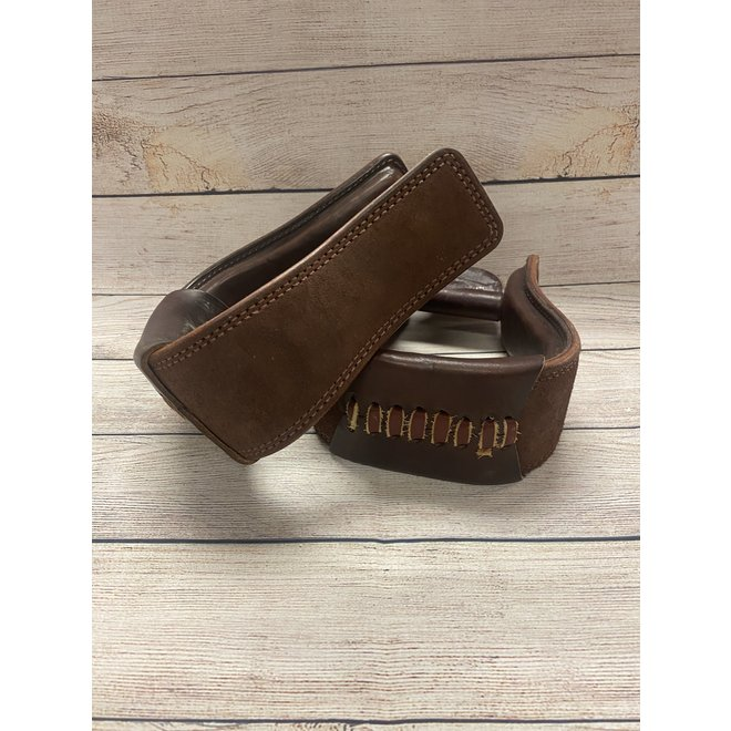 Chocolate Rough Out Ladies Stirrups 3""