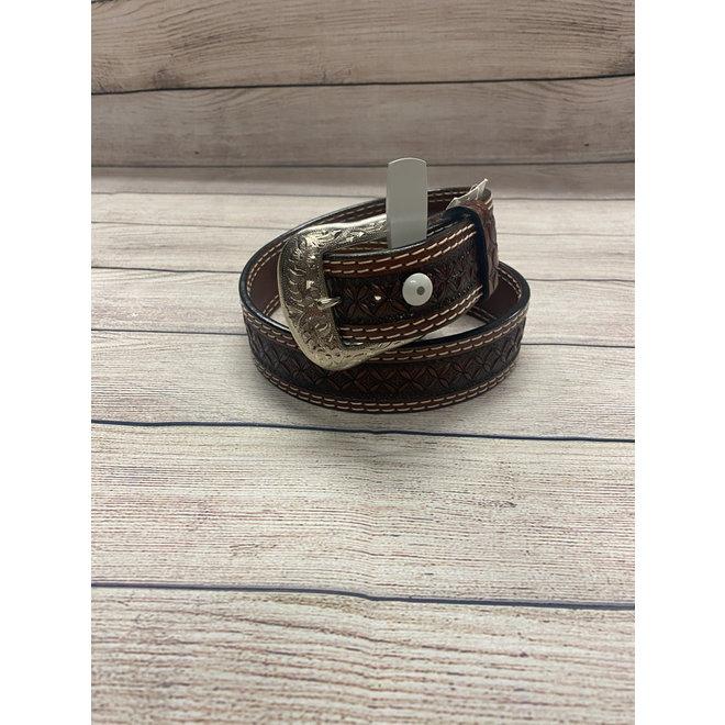 Mens Chestnut Leather Belt 32