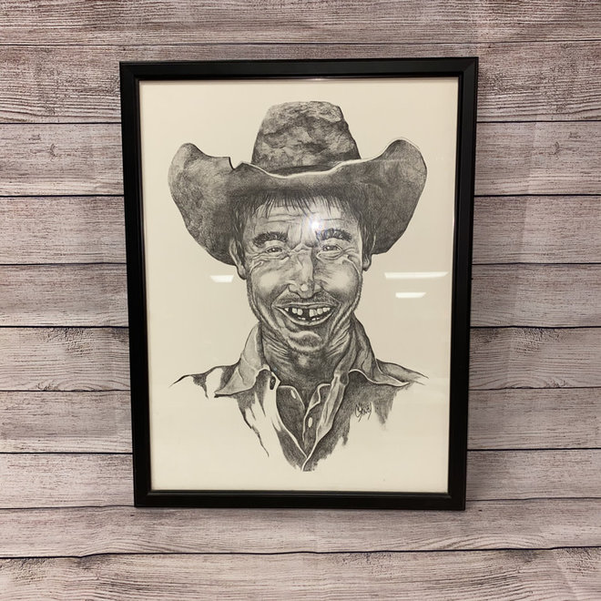 Framed Cowboy Sketch | 16x21