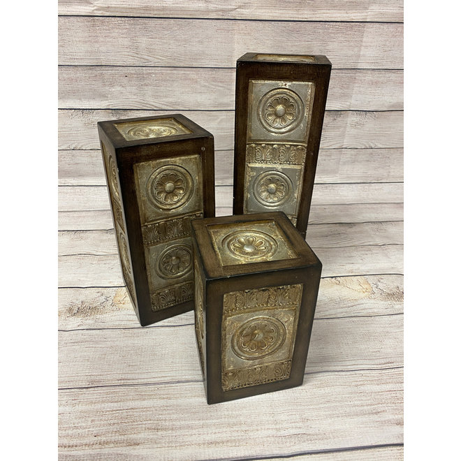 Engraved Wooden Table Decor | Set of 3