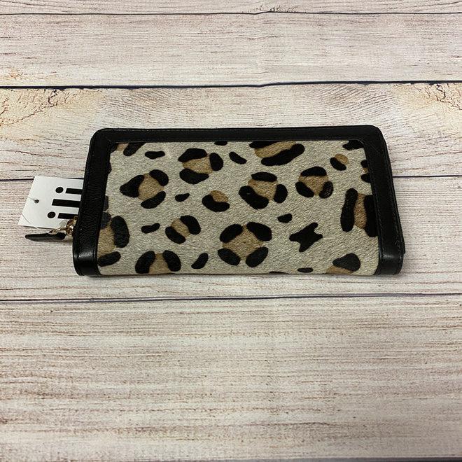 Leopard Bifold Zip Wallet