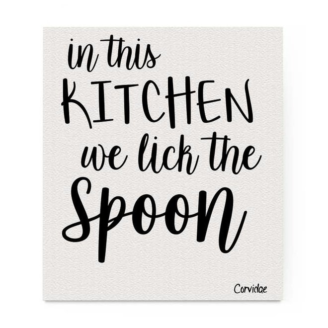 Lick the Spoon Swedish Dishcloth