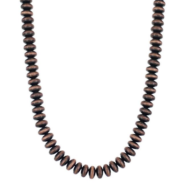 Boho Bronze Bead Strand Necklace