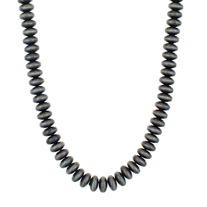 Pewter Bead Strand Necklace