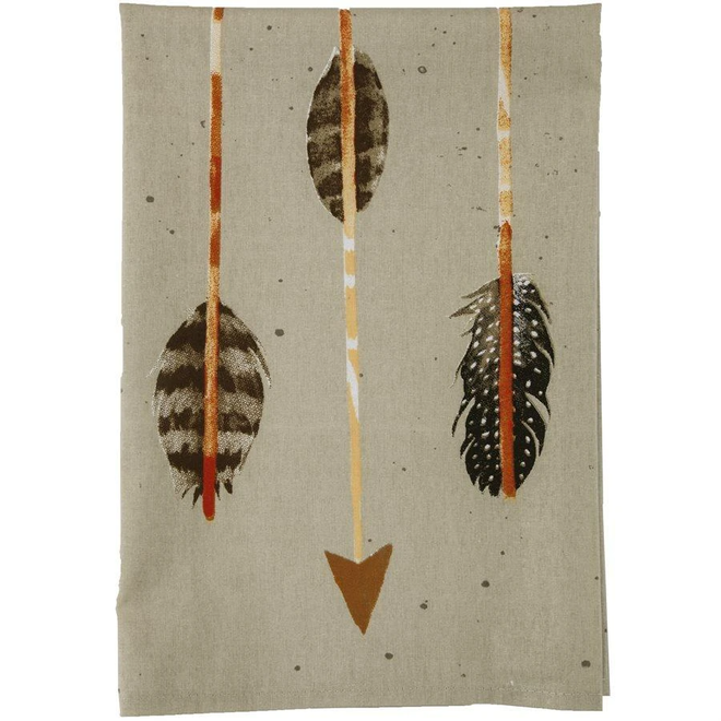Large Arrow Print Tea Towel