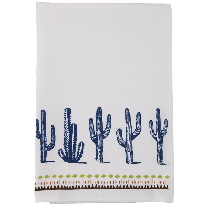 Cactus Border Print Tea Towel