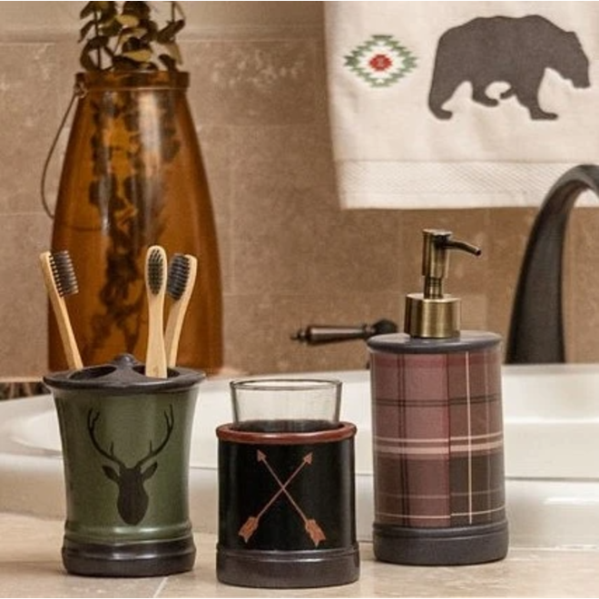 Aztec Bear 3 Piece Bathroom Set
