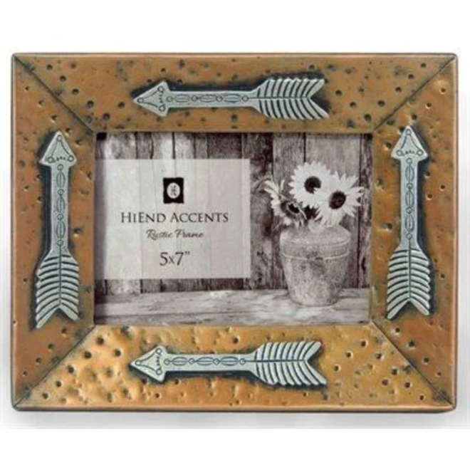 Gold Picture Frame with Arrows 5x7