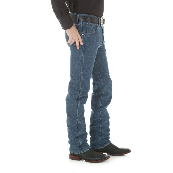 Premium Performance Advanced Comfort Cowboy Cut Slim Fit Jeans | Mid Tint