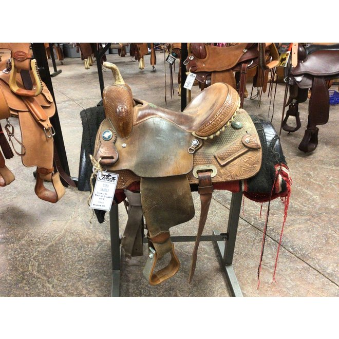 "Seven D Barrel Saddle 13.5"""